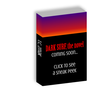 Book cover for the novel Dark Surf.