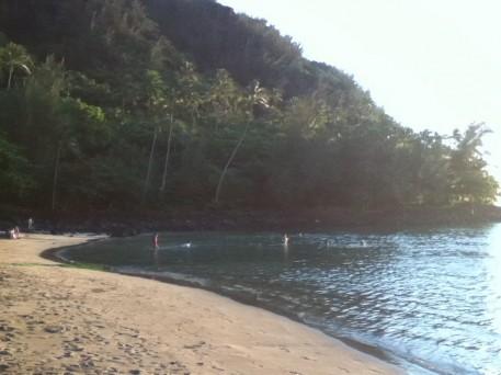 Ke'e Beach lagoon