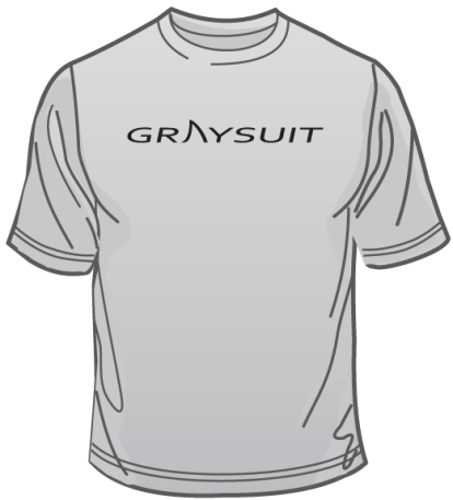 Graphic rendering of frontside of the Dark Surf t-shirt