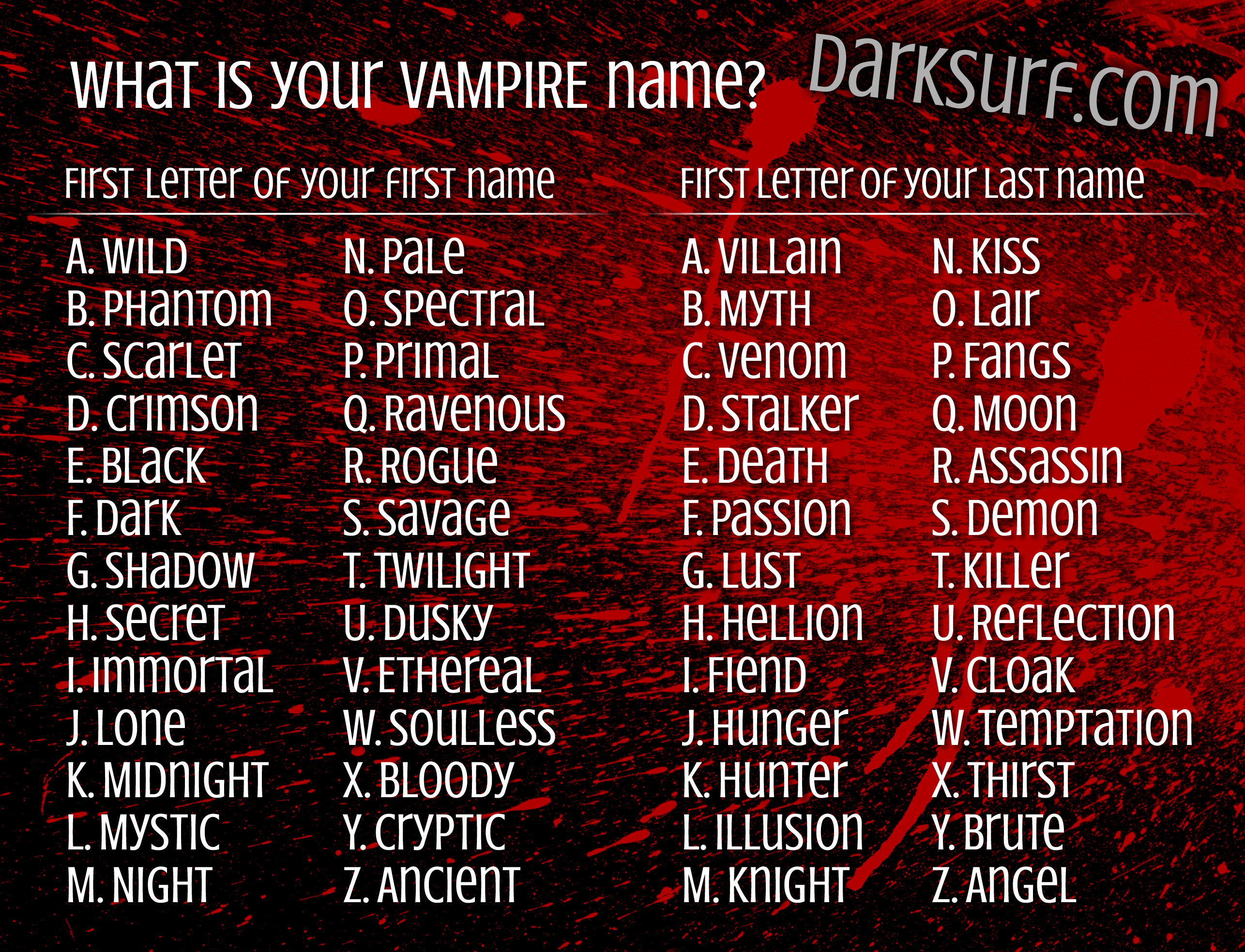 different names for dracula