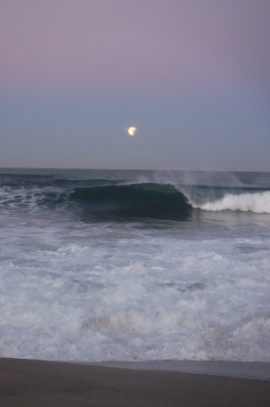 Super Moon Crescent & Wave