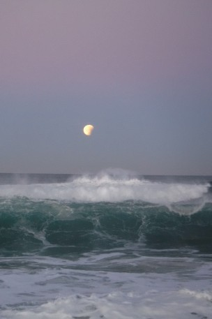 Super Moon & Glowing Wave